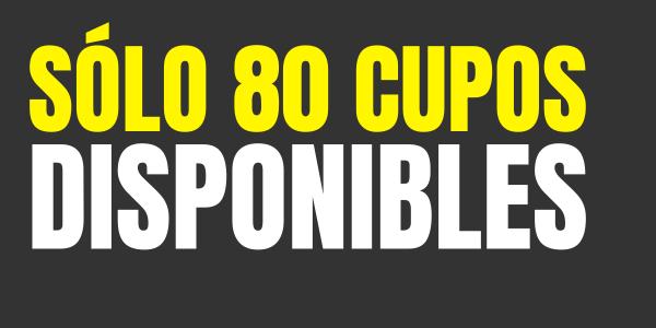 80 cupos